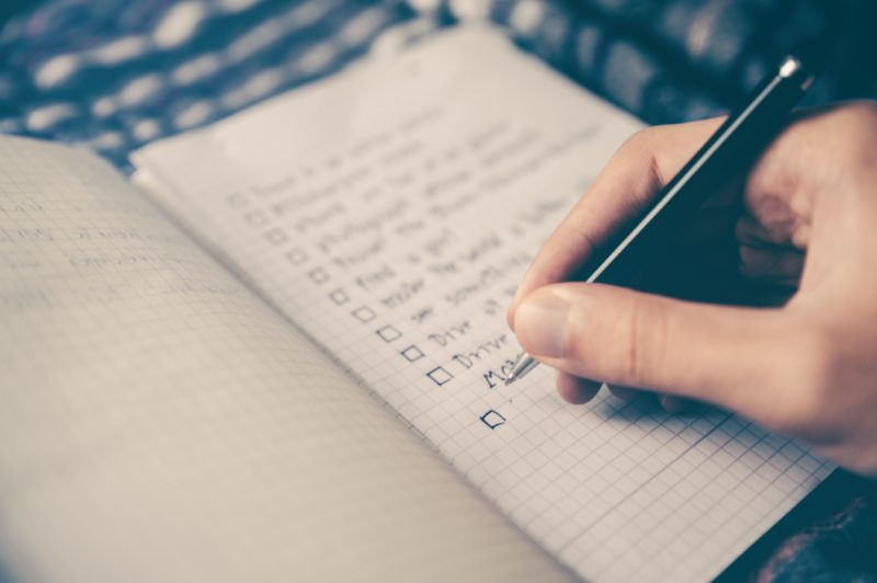 writing-a-checklist-in-a-notebook