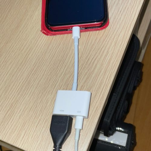 HDMI-conversion-adapter-connected-to-iPhone